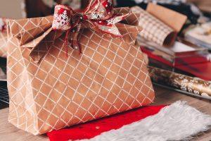 Handmade Christmas paper bag